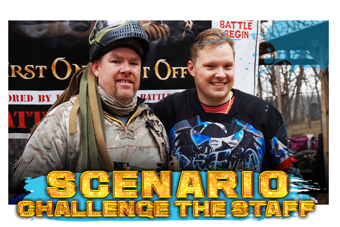 White River Paintball - Scenario Challenge the Staff - Benjamin vs Chip